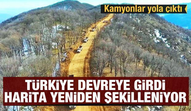 Türkiye devreye girdi! Harita yeniden şekilleniyor... Kamyonlar yola çıktı