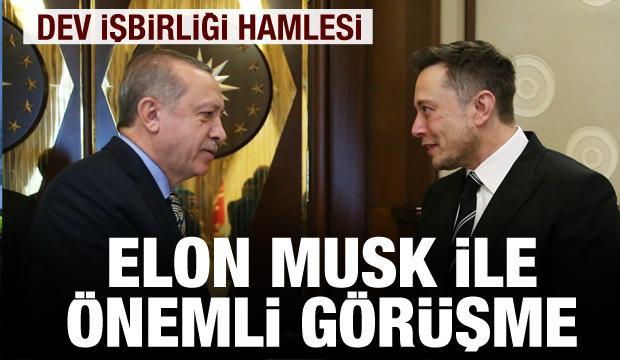 Cumhurbaşkanı Erdoğan, Elon Musk ile görüştü! Dev iş birliği...
