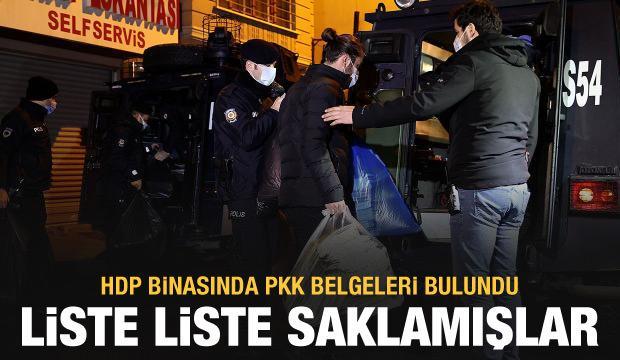 HDP binasında bulunan belgelerde PKK'ya ait eğitim notları