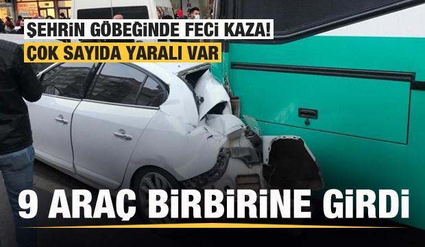 Kayseri'de feci kaza: 9 araç birbirine girdi! Çok sayıda yaralı var