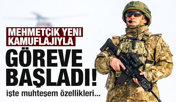 Mehmetçik yeni kamuflajlarıyla görev başında!