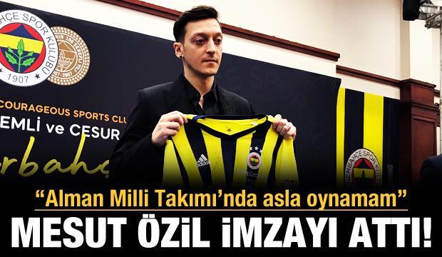 Mesut Özil imzayı attı!