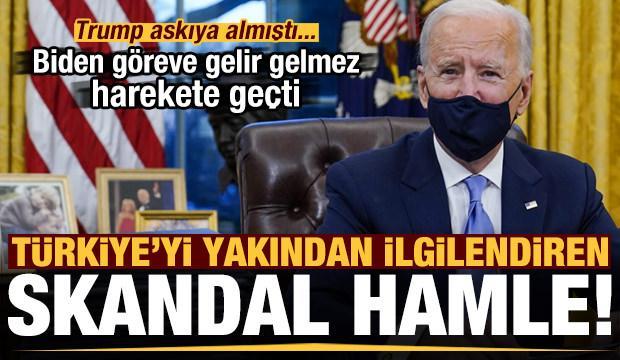 Son dakika: Joe Biden'dan Türkiye'yi yakından ilgilendiren skandal hamle! Trump askıya almıştı