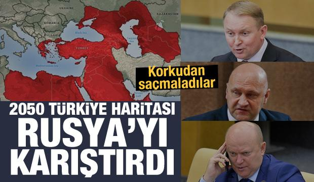 2050 Türkiye haritası Rusya'yı karıştırdı! Türkiye'yi tehdit ettiler