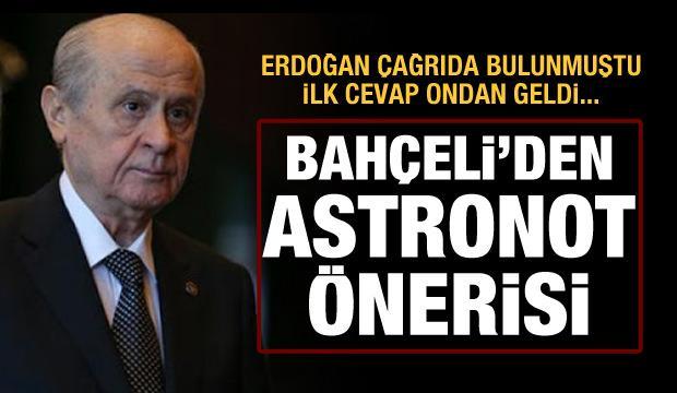 Bahçeli'den astronot için isim önerisi: Cacabey!