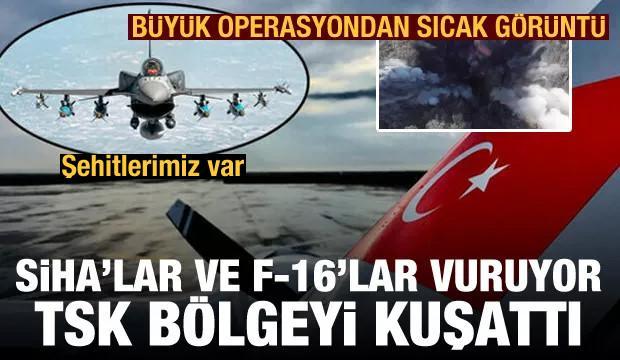 Şehitlerimiz var! TSK Gara bölgesini SİHA ve F-16'larla vurdu