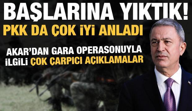 Bakan Akar'dan Gara mesajı: Hareket kabiliyetleri azaldı