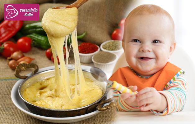 Bebekler için kahvaltılık muhlama tarifi! Mısır unu maması