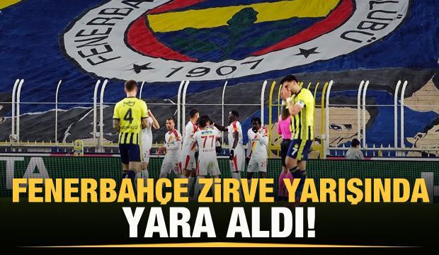 Fenerbahçe zirve yarışında yara aldı!