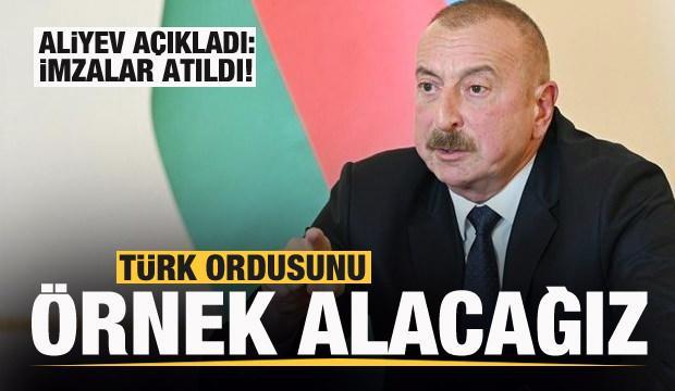 Aliyev: Türk ordusunun küçük modelini oluşturacağız