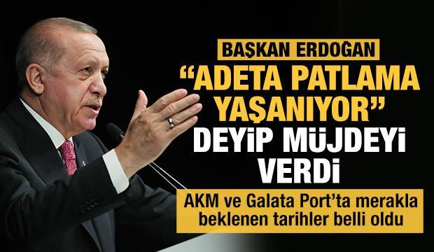 Başkan Erdoğan 'Adeta patlama yaşanıyor' deyip müjdeyi verdi