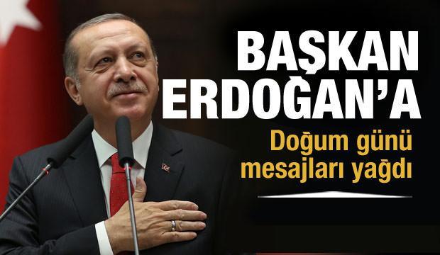 Başkan Erdoğan'a doğum günü mesajları yağdı!