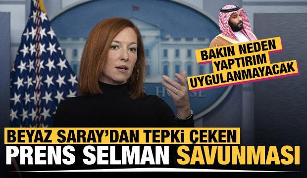 Beyaz Saray Sözcüsü Psaki'nin Prens Selman savunması tepki çekti