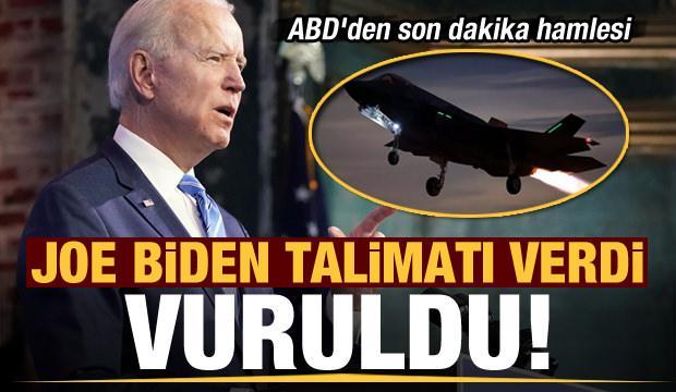 Biden talimatı verdi: Vuruldu! ABD'den son dakika İran hamlesi