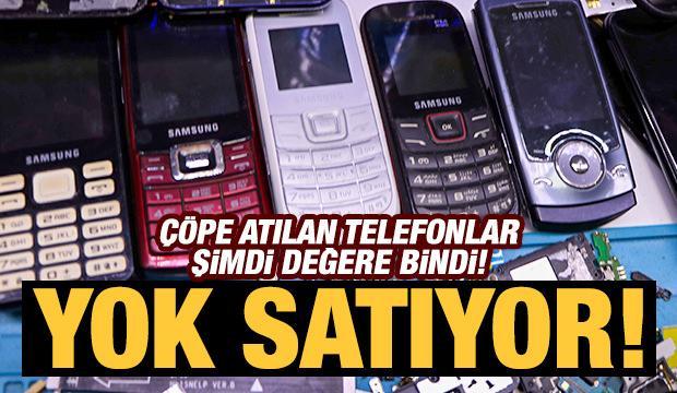 Çöpe atılan tuşlu telefonlar değere bindi! Yok satıyor...