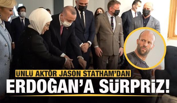 Jason Statham sürprizi! Başkan Erdoğan'la görüştü!