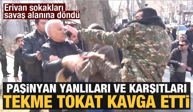 Paşinyan yanlıları ve karşıtları sokakları savaş alanına çevirdi