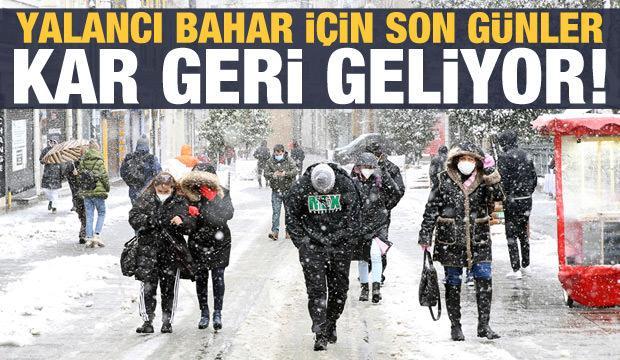 Son dakika haberi: Meteoroloji tahmin güncelledi, kar geri geliyor!