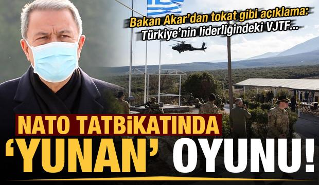 Son dakika: NATO tatbikatında Yunan oyunu! Bakan Akar'dan tokat gibi açıklama