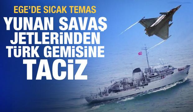 Son dakika: Yunan F-16'larından Ege'de TCG Çeşme gemisine taciz! Türkiye'den açıklama