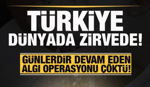 Türkiye dünyada zirvede! Günlerdir süren algı operasyonu çöktü!