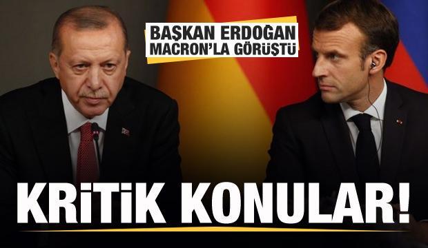 Başkan Erdoğan Macron ile görüştü