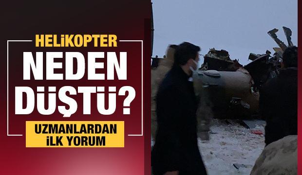 Bitlis'teki helikopter kazasıyla ilgili ilk uzman yorumu: Sabotaj yok, pilot inmeye çalışmış