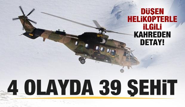 Cougar tipi helikopterle ilgi kahreden detay!, 4 olayda 39 şehit!