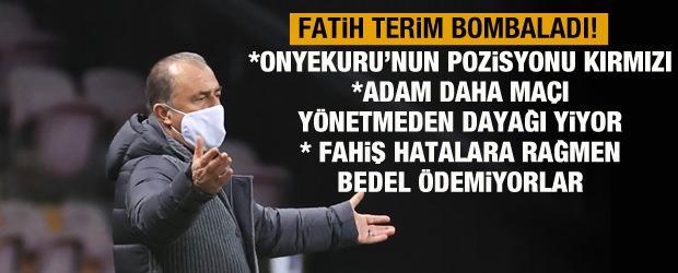 Fatih Terim'den kırmızı kart itirazı!