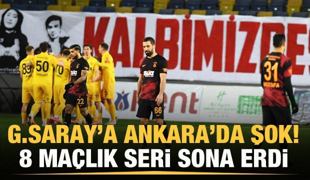 Galatasaray'a Ankaragücü dur dedi!