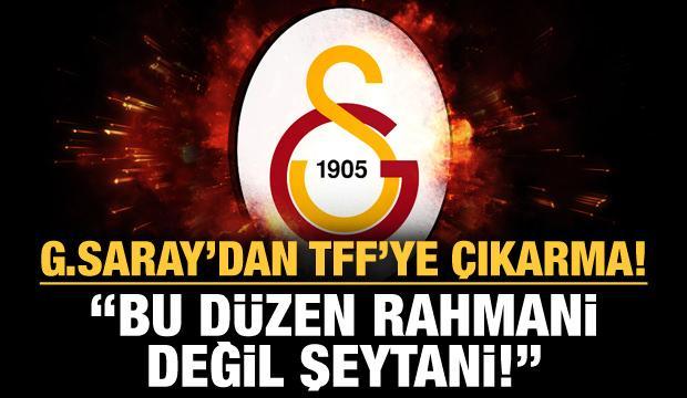 Galatasaray'dan TFF'ye çıkarma!