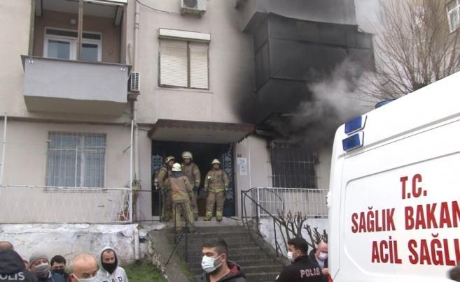 İstanbul'da dehşet anları! Demirleri keserek kurtardılar