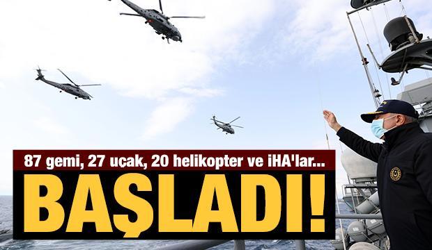 Milli Savunma Bakanı Hulusi Akar, TCG Oruçreis'te! Mavi Vatan 2021 tatbikatı başladı...