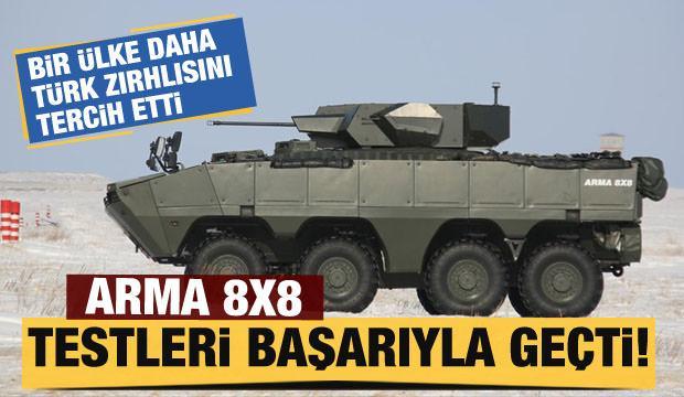 Osta Asya Ülkesi Türk zırhlısını tercih etti! Arma 8×8'i test ettiler...