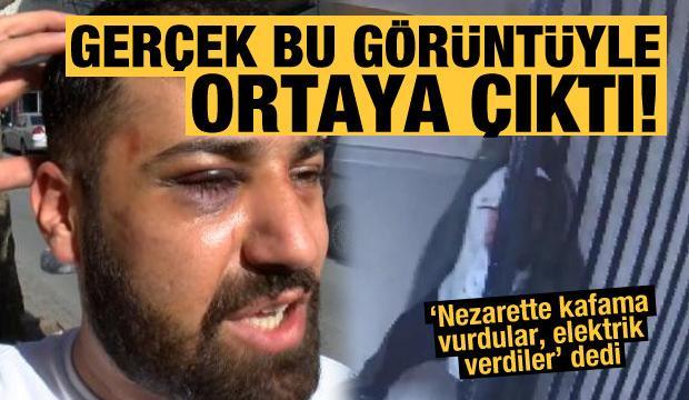 Polis darp etti dedi! Nezarethanedeki görüntülerle yakayı ele verdi