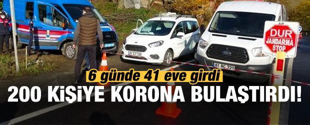 Sinop'ta 6 günde 41 eve girdi: Tam 200 kişiye korona bulaştırdı!