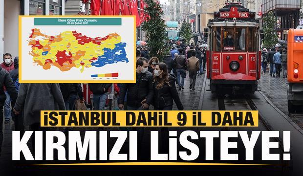 Son dakika: İstanbul dahil 9 il daha kırmızı listeye! Son harita endişelendirdi