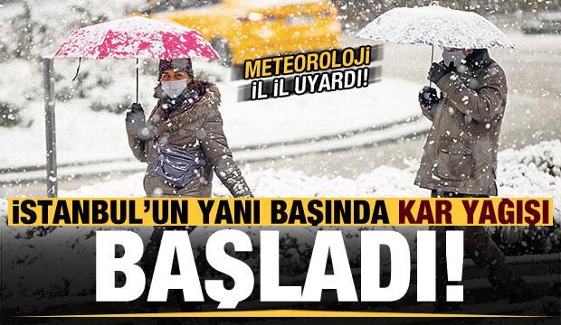 Son dakika: İstanbul'un yanı başında kar yağışı başladı! Meteoroloji il il uyardı...