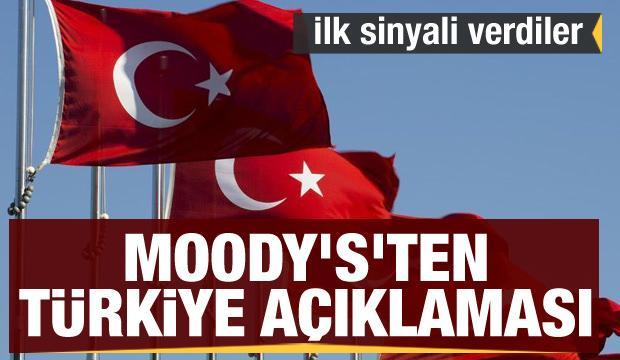 Son dakika: Moody's'ten Türkiye açıklaması: İlk sinyali verdiler