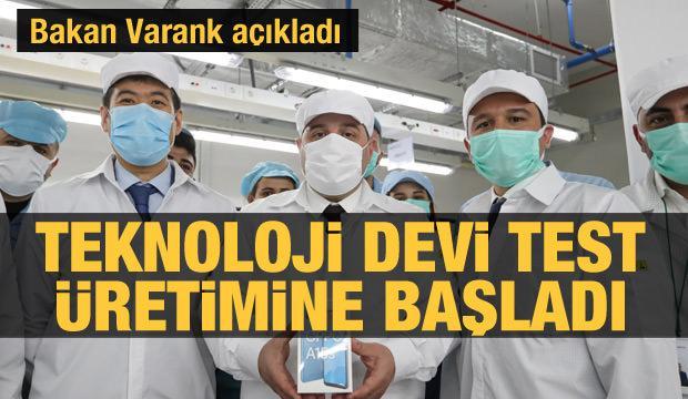 Bakan Varank açıkladı akıllı telefon test üretimi başladı