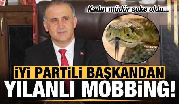 İYİ Partili Başkandan yılanlı mobbing!