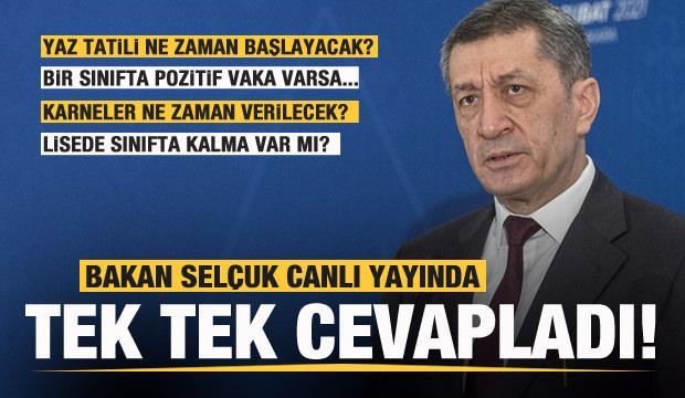 Milli Eğitim Bakanı Ziya Selçuk'tan yüz yüze eğitim ve tatil duyurusu! Tarih netleşti