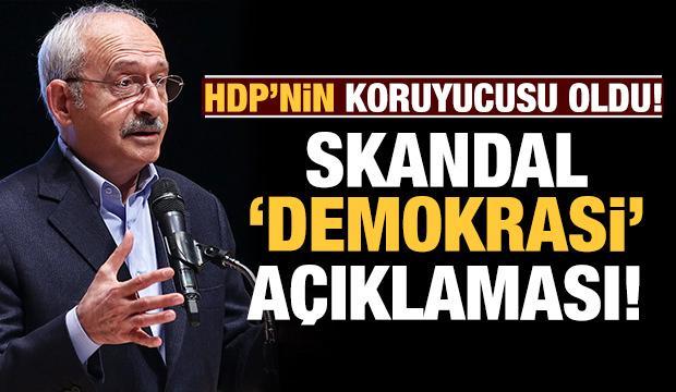 Kılıçdaroğlu HDP'nin koruyuculuğunu üstlendi: Skandal demokrasi mesajı