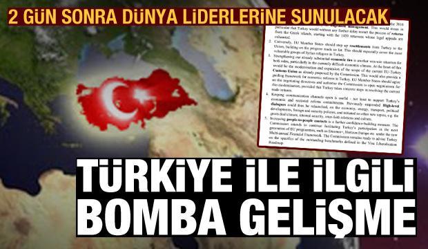 Türkiye ile ilgili bomba gelişme: Belge 2 gün sonra dünya liderlerine sunulacak