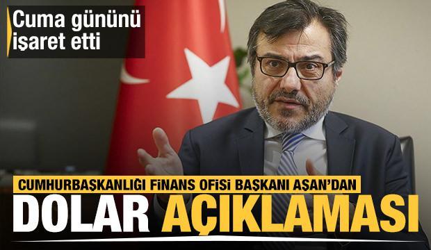 Cumhurbaşkanlığı Finans Ofisi Başkanı Göksel Aşan'dan son dakika dolar açıklaması