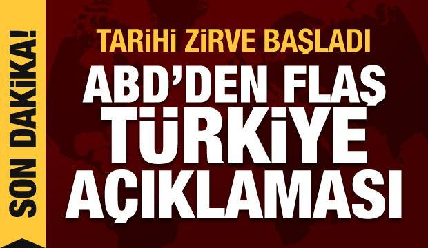 NATO Zirvesi başladı! ABD'den son dakika Türkiye açıklaması