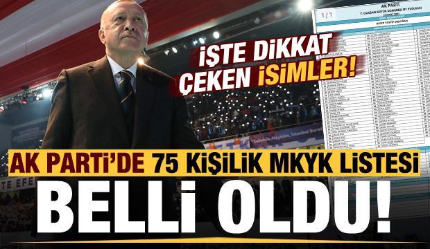 Son dakika: AK Parti'nin 75 kişilik MKYK listesi belli oldu! Listede dikkat çeken isimler... - SİYASET Haberleri