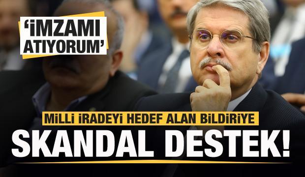İYİ Parti İzmir Milletvekili Aytun Çıray'dan skandal bildiriye destek!