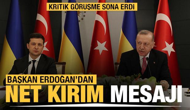 Başkan Erdoğan: Kırım'ın ilhakını tanımıyoruz