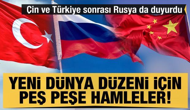 Çin, Türkiye ve Rusya harekete geçti! Yeni dünya düzeni için peş peşe hamleler